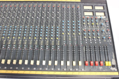 Vintage Soundcraft 200B 24-Channel 4 Bus Analog Mixing Console w/ Road Case Front