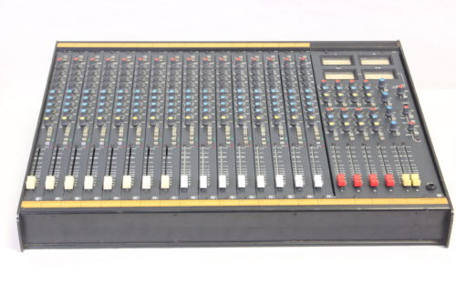 Vintage Soundcraft 200B 16-Channel 4 Bus Analog Mixing Console w/ Road Case 1b Front