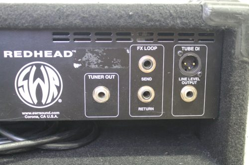 SWR Red Head All Tube Pre-Amp/240 Watt Power Amp Integrated Bass System inputs