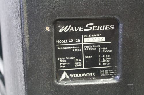 Wave Series WX12A Speakers (PAIR) back panel