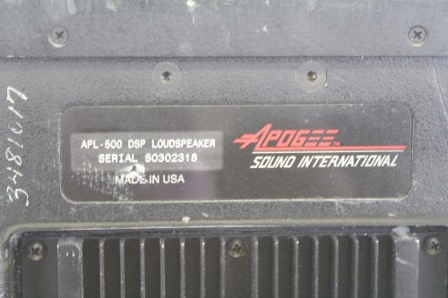 Apogee APL-500 Powered Arrayable Speaker (Missing Faceplate - Fully Functional) brand