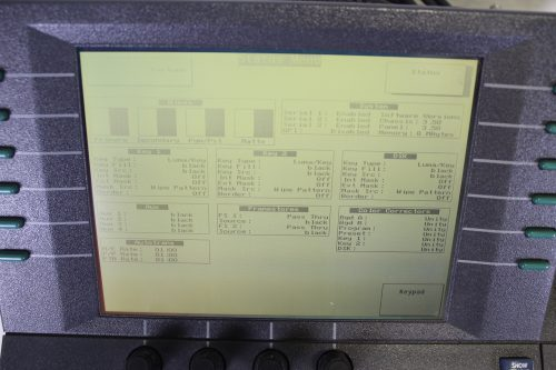 Abekas 8150 Production Switcher SCREEN