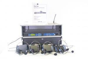 Clear-Com WBS-670 Professional Wireless Kit w/Case & (4)Beltpacks/Headsets Front
