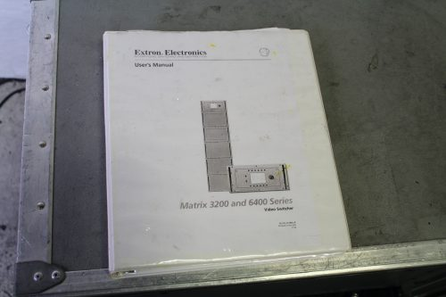 Extron Matrix 6400 Wideband Video Switcher Router in Case book