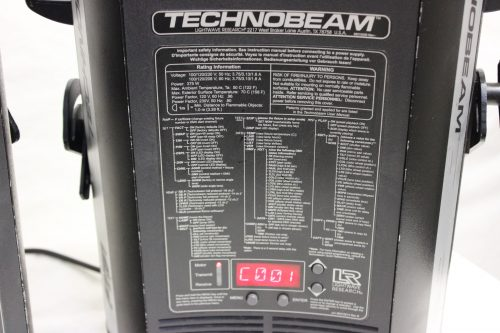 Lightwave Research Technobeam in Case (Pair - Malfunctions) tag1