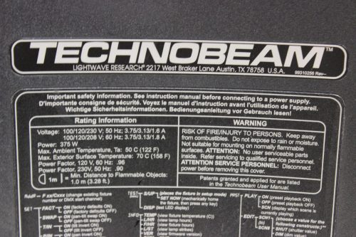 Lightwave Research Technobeam in Case (Pair - Malfunctions) ag2
