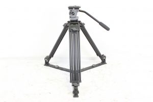 Miller DS-20 2 Stage Aluminum Tripod System w/ Miller Carrying Case (Black) Main