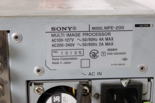 SONY MPE-200 Multi Image Processor (LOT OF 2 - FOR PARTS) - LABLE