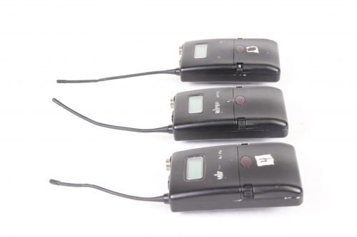 ACT-7Ta Wideband bodypack Transmitter LOT OF 3 - FOR PARTS - FREQ (2) 5US1; (1) 5US2) - SIDE1