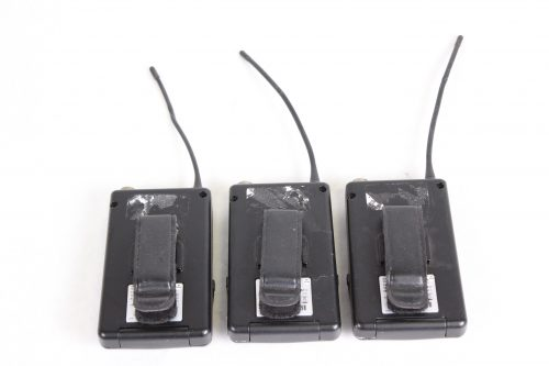 ACT-7Ta Wideband bodypack Transmitter LOT OF 3 - FOR PARTS - FREQ (2) 5US1; (1) 5US2 - BACK1