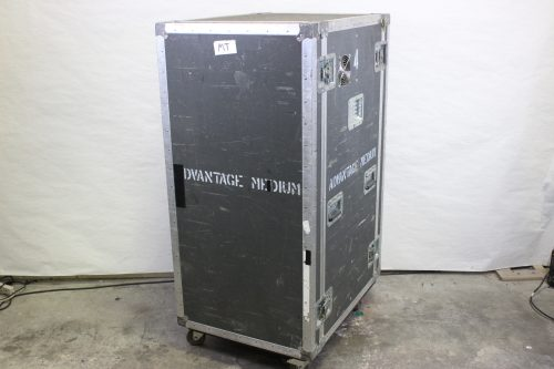"34x26x56"" ATA Rack Case 25 RU w/ Wheels & 2 Tables/Doors Side3"
