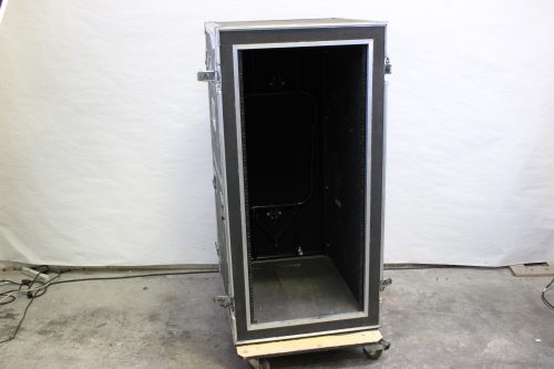 "34x26x56"" ATA Rack Case 25 RU w/ Wheels & 2 Tables/Doors Open2"
