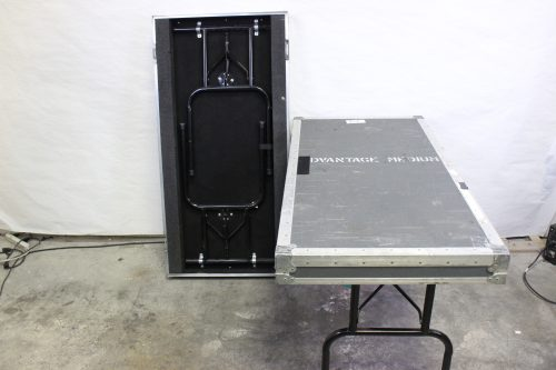 "34x26x56"" ATA Rack Case 25 RU w/ Wheels & 2 Tables/Doors Table"