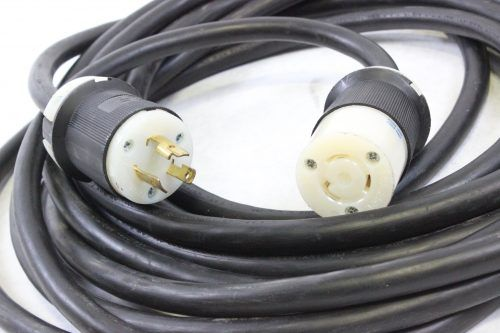 HUBBEL HBL2321 (L6-20P) Male to HBL2323 (L6-20R) Female 20A/250V - 30' Cable - ENDS