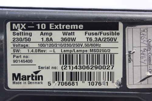 Lot of 3 Martin MX10 Extreme Output Automated Light MSD-2 + (For Parts Only) Label