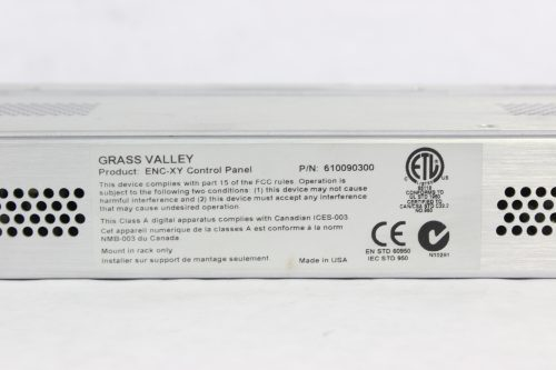 Grass Valley Encore ENC-XY Universal XY Programmable Control Panel - LABEL