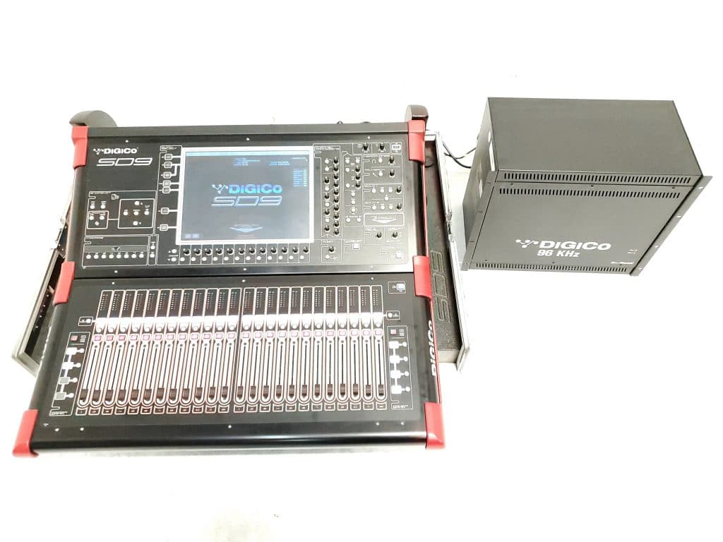 DigiCo SD9 Digital Mixing Console w_ D2-Rack + (2) Line-Out Modules _amp_ Road Case Main
