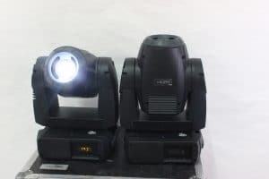 Martin Mac 250 Moving Light (Pair) wCase (1) 7447 Hours (1) FOR PARTS light2