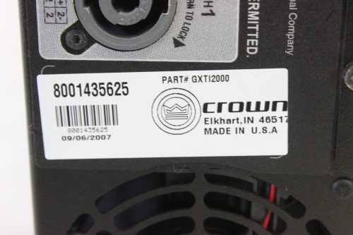Crown Xti-2000 Stereo Amplifier w/DSP label