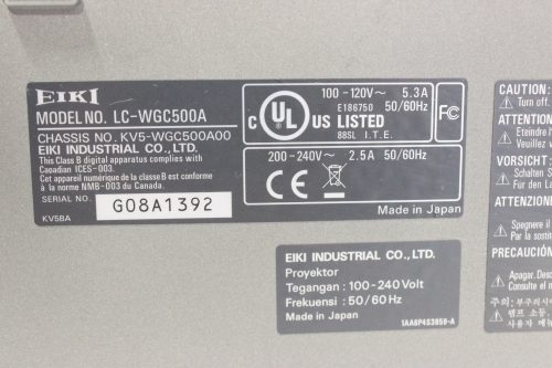 eiki-lc-wgc500-5k-lumens-projector-with-road-case label