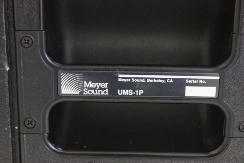 Meyer Sound UMS-1P UltraCompact Powered Subwoofer Label