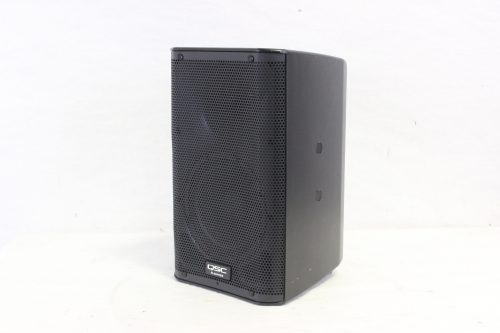 """QSC K8 - 105° 1000 W active 8"""" 2-way loudspeaker system with Soft Carrying Case side"""