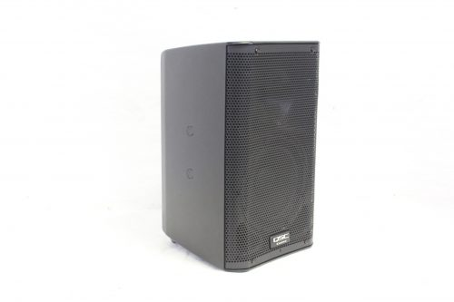 """QSC K8 - 105° 1000 W active 8"""" 2-way loudspeaker system with Soft Carrying Case side2"""