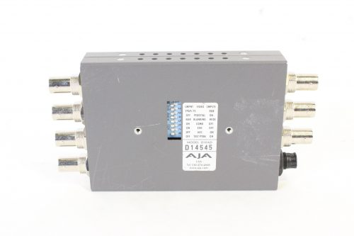 AJA D10AD Component/Composite Analog to SDI Converter with Power Supply BACK