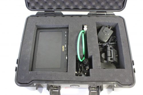 """Lilliput 667GL-70NP/H/Y - 7"""" HDMI field monitor with case open"""
