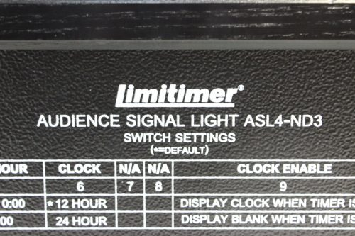 Speaker Timer - Audience Signal Light and Case label2