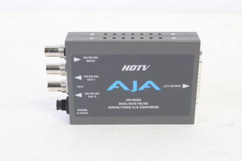 AJA HD10CEA Dual Rate HD/SD Audio/Video D/A Converter - front