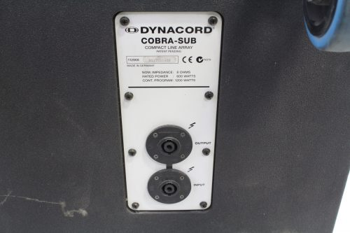 Dynacord COBRA‑SUB Compact Line Array Subwoofer w Top Board and Soft Cover back1