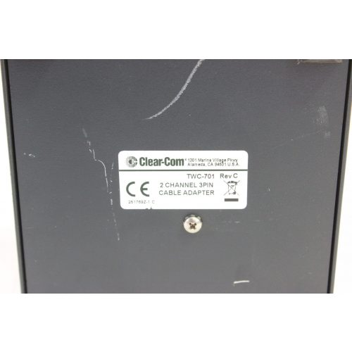 clear-com-twc-701-2-channel-3-pin-adapter label