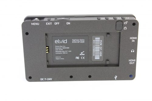 elvid-5-rvm-5p-hdr-rigvision-hdr-on-camera-touchscreen-monitor-lcd-w-charger-batteries-case back