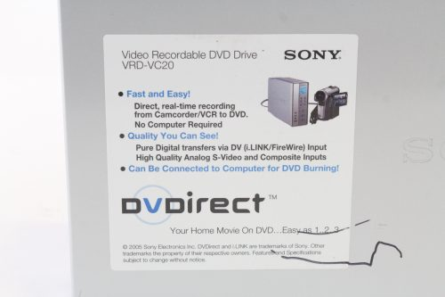 sony-vrd-vc20-video-recordable-dvd-drive-w-case - label 2
