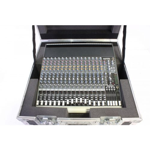 mackie-1604vlz-16-channel-mixer-in-hard-case in the case