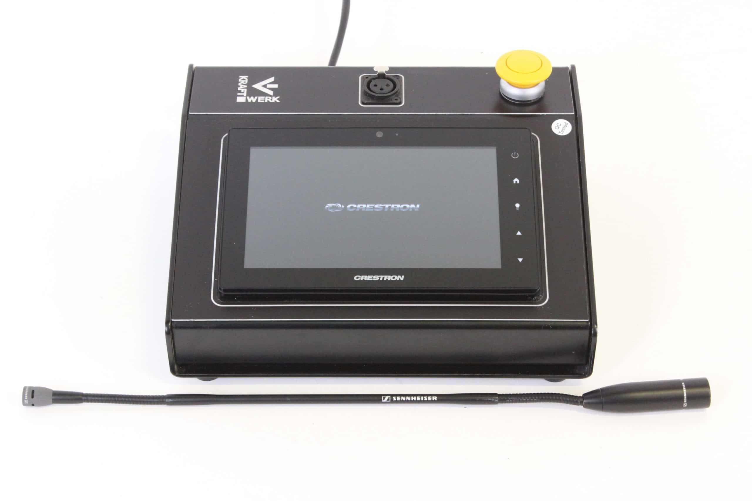 crestron-tsw-760-bs-7-touch-screen-black-smooth-w-button-sennheiser-me-34-nx-gooseneck-microphone main