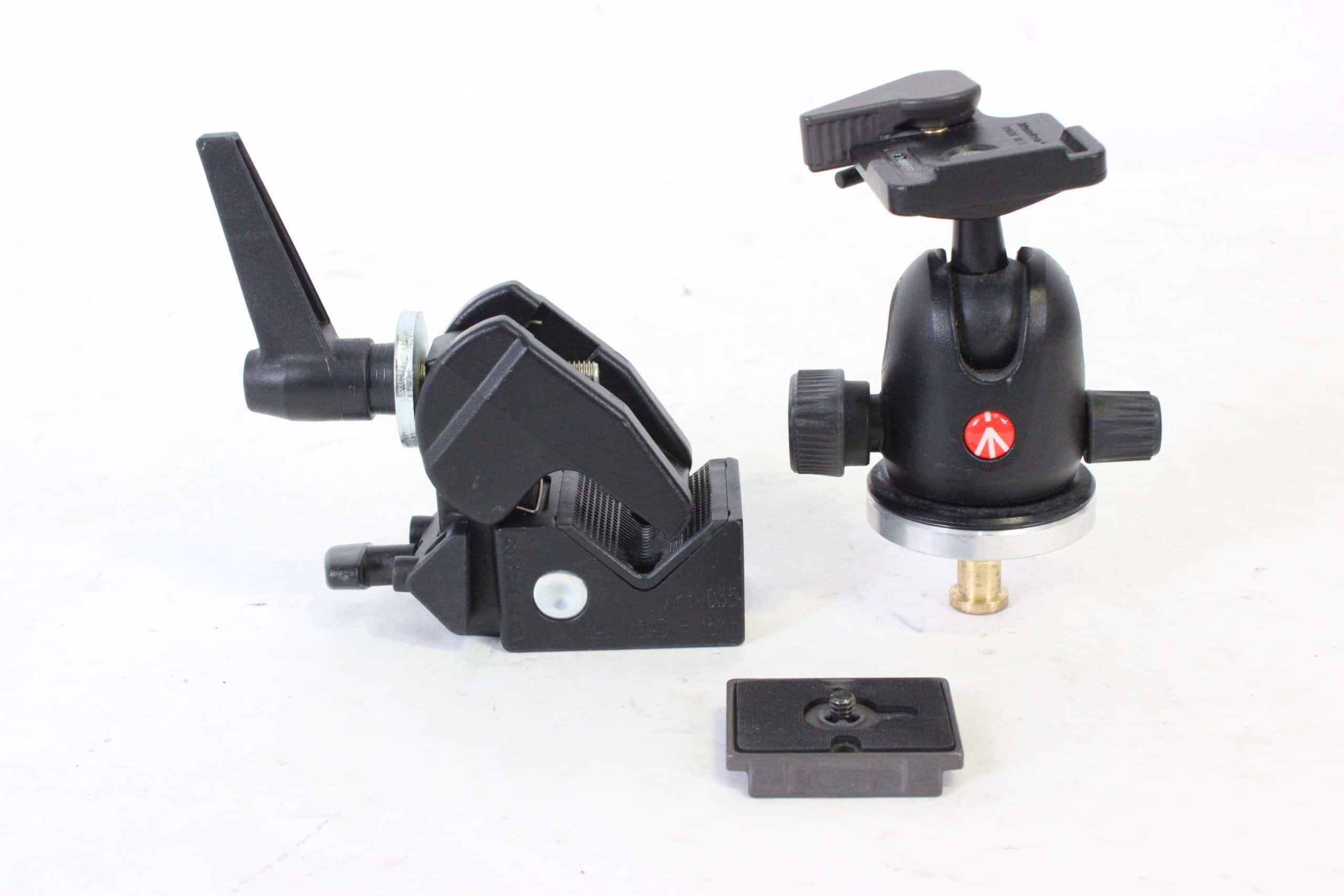 Manfrotto 496RC2 Compact Ball Tripod Head w/ RC2 Quick Release Plate & Super Clamp w/ Stud Main