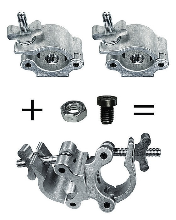The Light Source Bolt and Nut Kit to Combine 2 Half Couplers into XL Mega-Swivel Coupler MLSM-XL-RKIT