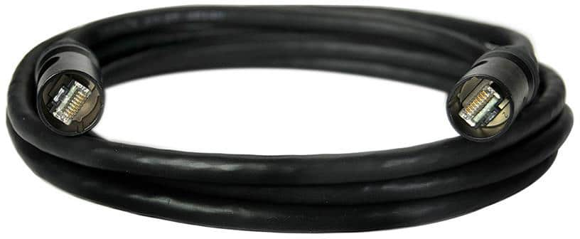 Whirlwind Cable - Ethernet Cat6A Ethercon to Cat6A Ethercon tactical Cat6a cable shielded ENC6ASE000