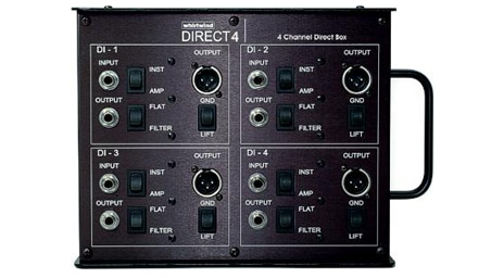 Whirlwind Direct Box - DIRECT4 Whirlwind TRHLM transformers 4-channel stagebox DIRECT4