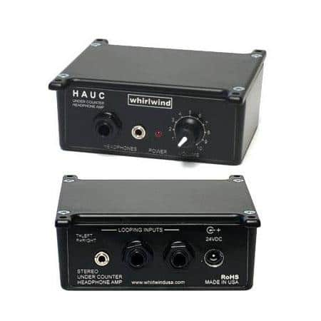 Whirlwind Headphone - Amplifier under-counter 35mm & 1_4 TRS inputs 1_4 TRS loop-thru 35mm & 1_4 TRS output 23dBV variable gain HAUC