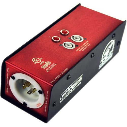 Whirlwind Power Link - PL2 Stringer L1420 chassis inlet (2) PowerCon 20A outlets indicator lamps PL2-142012P-000