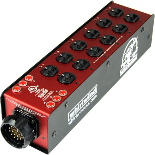 Whirlwind Power Link - PL2 Stringer SPX19 chassis inlet (6) 20A Duplex outlets indicator lamps PL2-SPX16E-000