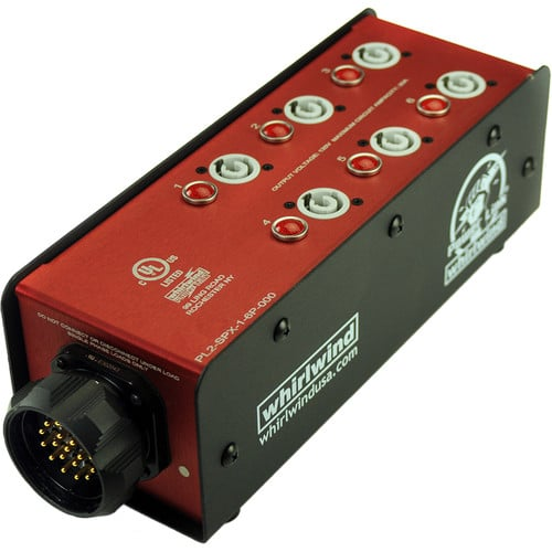 Whirlwind Power Link - PL2 Stringer SPX19 chassis inlet (6) PowerCon 20A outlets PL2-SPX16P-000