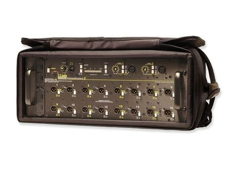 Whirlwind Pressbox - Active 2 mics in 16 mic or line selectable outputs battery or AC PRESSPOWER 2