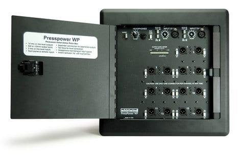 Whirlwind Pressbox - Active wall mount 14 mic_line outputs PRESS WALL