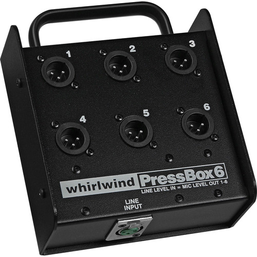 Whirlwind Pressbox - Passive 1-line in 6-mic out PB06