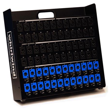 Whirlwind Splitter - Stage Box 20 XLRF [inputs] 20 XLRM [parallel output] 20 XLRM [isolated output w_ground lifts] SB20T11G