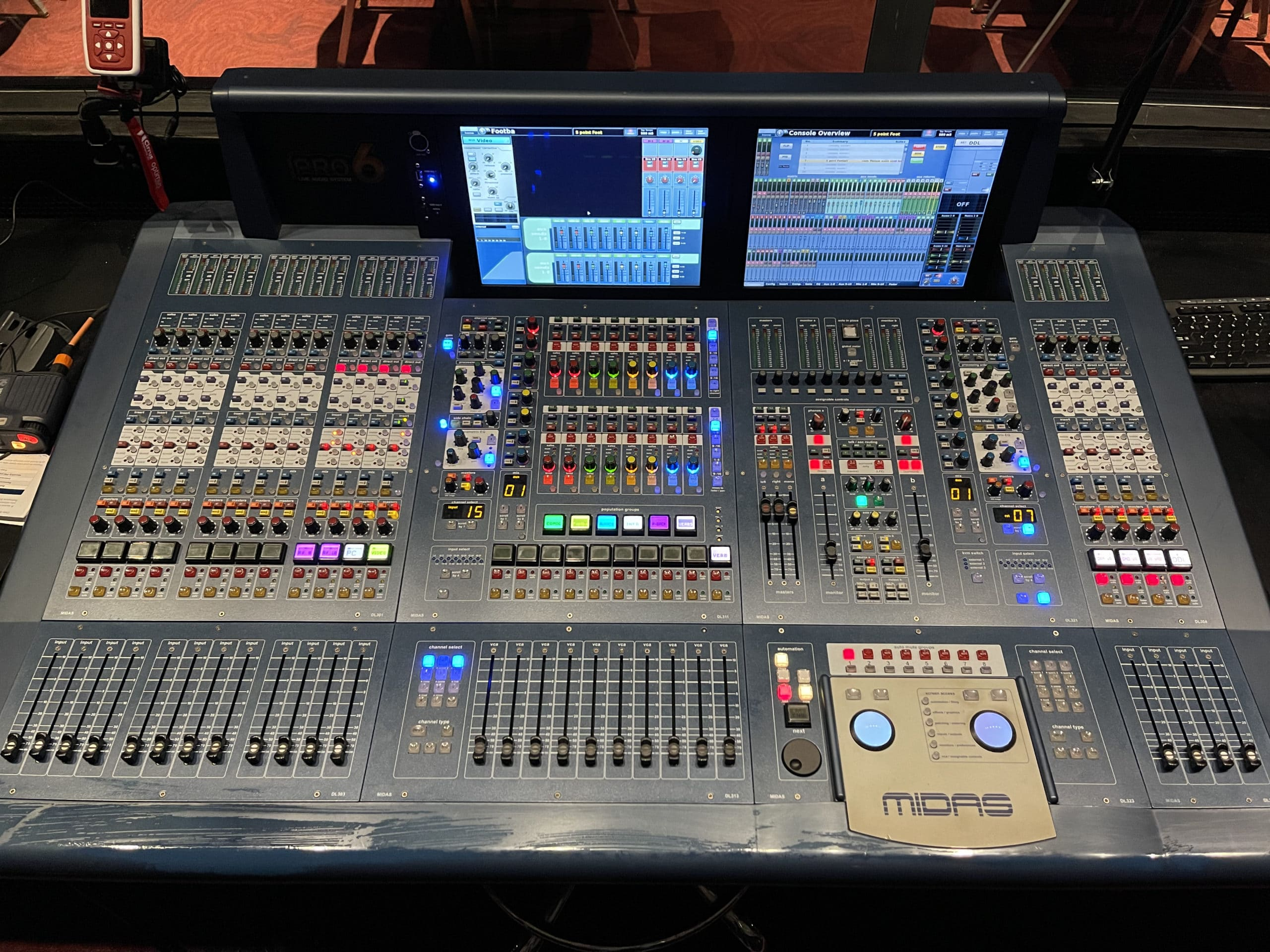 Midas PRO6 Live Audio Mixing System with 64 Input Channels w/ DL351 & DL451 Modular Stage Box w/ I/O Cards #C1278-1 MAIN
